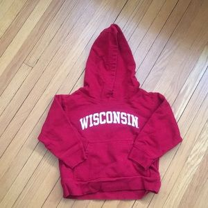 College Kids Wisconsin Red Hoodie 2T
